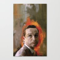 moriarty Canvas Prints featuring Moriarty by Wisesnail