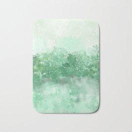 Choppy Turquoise Ocean Water Bath Mat