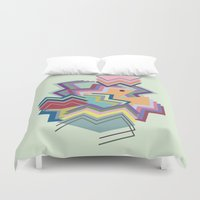 pacman Duvet Covers featuring pacman by carolinegeys