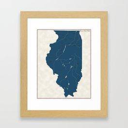 Illinois Parks - v2 Framed Art Print