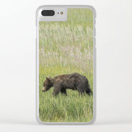Young Brown Bear Cub, No. 2 Clear iPhone Case