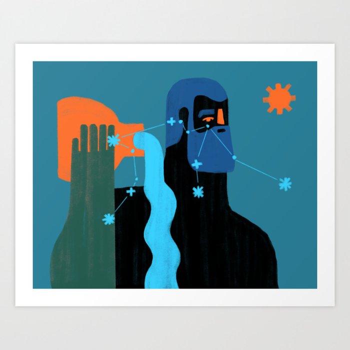 Acuario Art Print