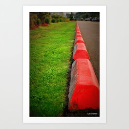 Red Curb...for days Art Print