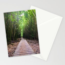 Bamboo Boardwalk on Maui Stationery Cards
