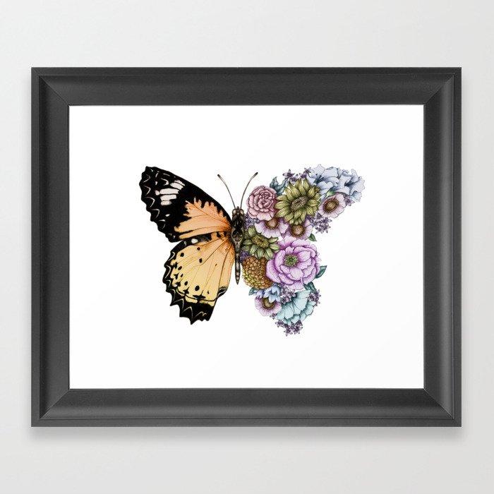 Butterfly in Bloom II Gerahmter Kunstdruck