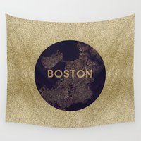 vintage map Wall Tapestries featuring map by go_alexxa_go