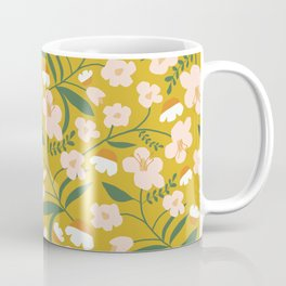 Vintage Inspired Floral Coffee Mug