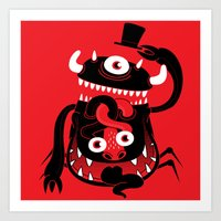 Mister Monster Art Print