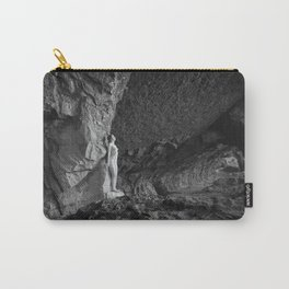 Fearless women in cave Carry-All Pouch