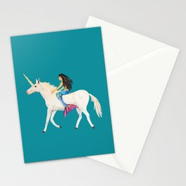 To the Land of Mermaids and Unicorns Stationery Cards