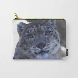 A Snow Leopard Stare Carry-All Pouch