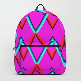 colored zigzags Backpack
