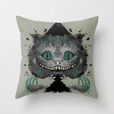 Cat of Spades Throw Pillow
