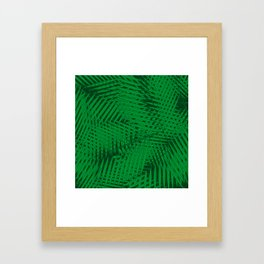 Palms forest ~ Tropical texture Framed Art Print