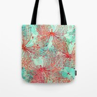 butterfly Tote Bags featuring Butterfly Pattern by Klara Acel