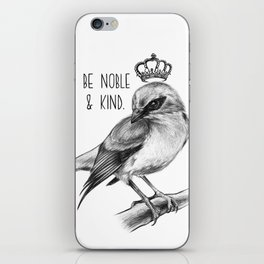 Bird and Quote by Magda Opoka | Animals | Painting | Illustration iPhone Skin
