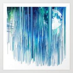 Planet Pixel Launch Art Print