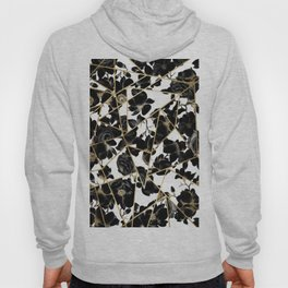 Geometric Abstract Black Floral Gold Triangles Hoody