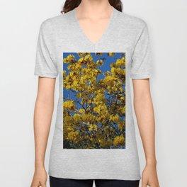 Yellow Tree Fever Unisex V-Neck
