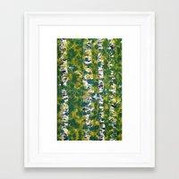 birch Framed Art Prints featuring Birch by AhaC