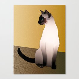 Portrait of a Seal Point Siamese Cat Canvas Print