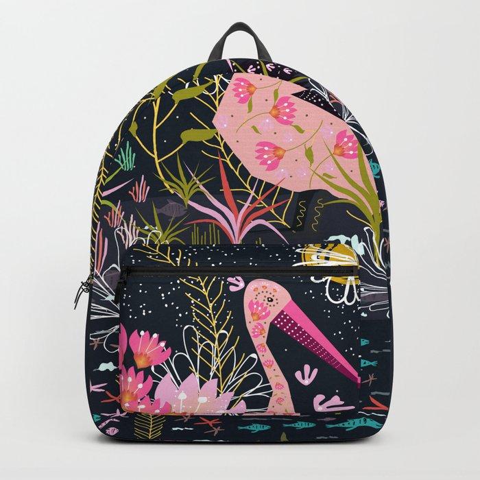 Pink Floral Backpack