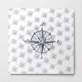 Compass pattern Metal Print
