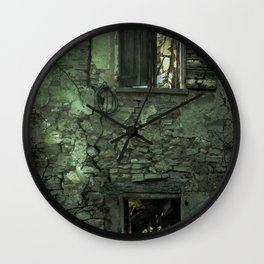 Ghost Town in Italy Wall Clock