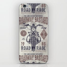 Vintage Motorcycle Poster Style iPhone Skin