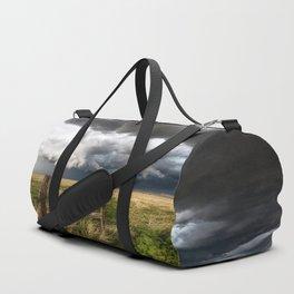 Aquamarine - Storm Over Colorado Plains Duffle Bag