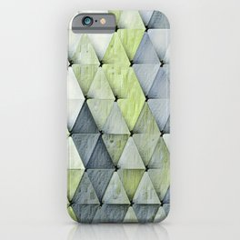 Textured Triangles Lime Gray iPhone Case
