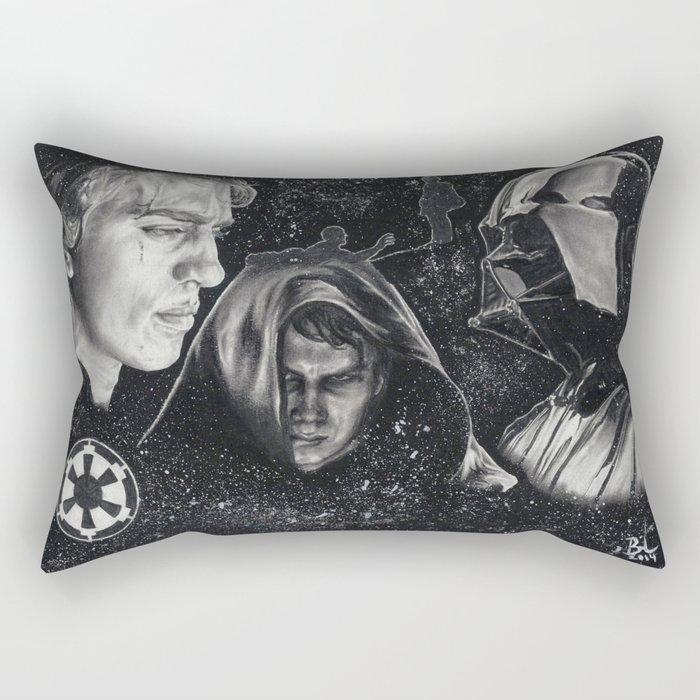 Anakin/Darth Vader Rectangular Pillow