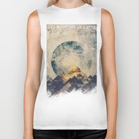 mountains Biker Tanks featuring One mountain at a time by HappyMelvin