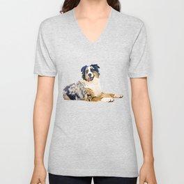 Australian Shepherd Unisex V-Neck