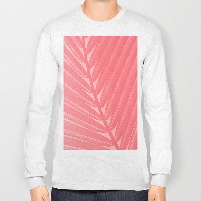 Hot Pink Palm Long Sleeve T-shirt