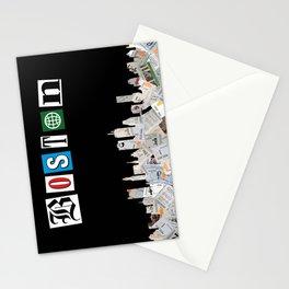 MBTA Boston Skyline - Black Stationery Cards