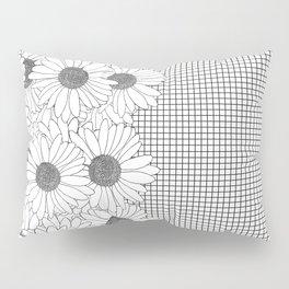 Daisy Grid on Side Pillow Sham