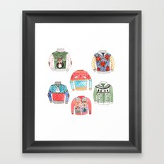 Ugly Sweaters Framed Art Print
