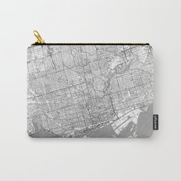 Toronto Map Line Carry-All Pouch
