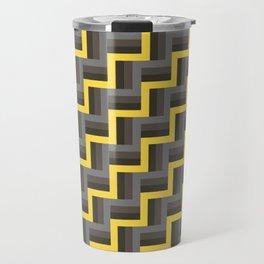 Plus Five Volts - Geometric Repeat Pattern Travel Mug