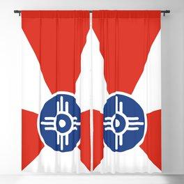 Flag of Wichita, Kansas Blackout Curtain