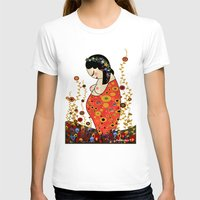 klimt T-shirts featuring Kokeshi Hope of Klimt by Pendientera