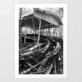Abandoned Roller Coaster Station Art Print