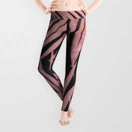 Delicate Jungle with Pink and Black Leggings