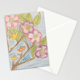 Watercolor flower 1 Stationery Cards