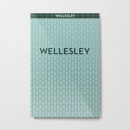 WELLESLEY | Subway Station Metal Print