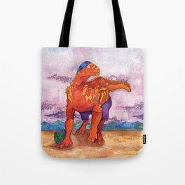 Beach Ball Dinosaur - Barney Tote Bag
