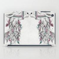 llama iPad Cases featuring Llama by LouJah