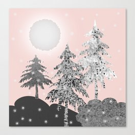 Winter morning Canvas Print