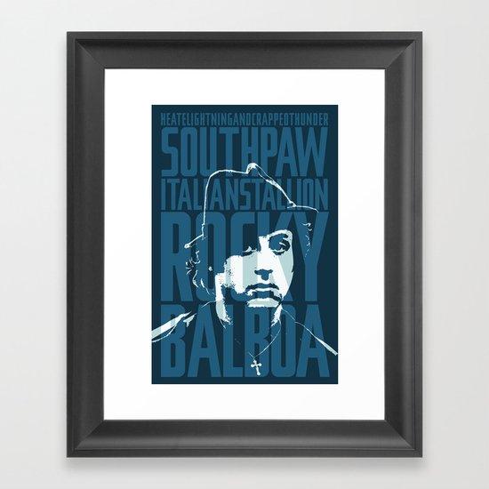 S6 / Art / Framed Art Prints / Rocky Balboa Minimal Vector Film Poster